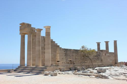 The temple of Athena in Ancient Lindos, part of private tours