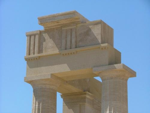 Ancient Lindos doric temple of athena, part of private tours