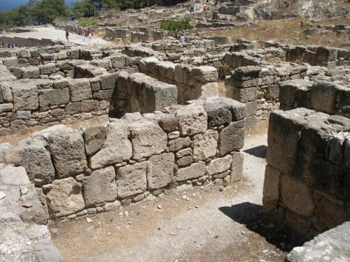 A normal house in the ruins of Ancient Kamiros, part of our private tours