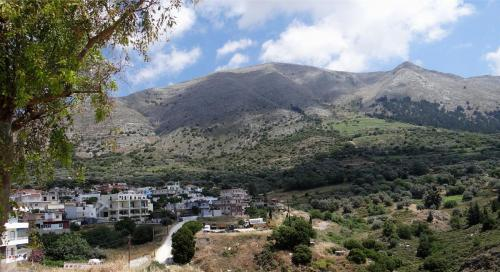 Empona village panoramic view in Rhodes island