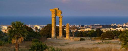 Rhodes Acropolis panoramic view, part of city tour