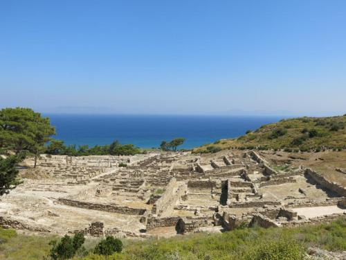 Ancient Kamiros lower part and sea, part of our private tours