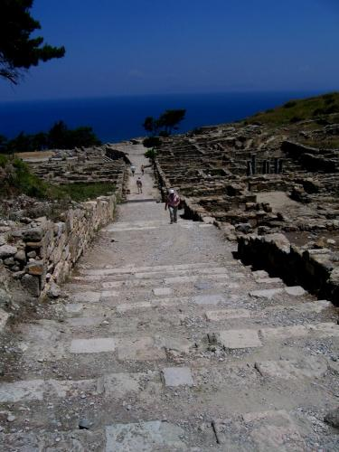 Ancient kamiros panoramic view, part of our private tours