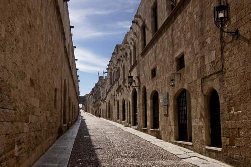 Knights Street in the medieval town of Rhodes, part of city tour
