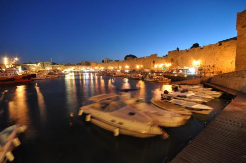 Kolona port of Rhodes island, part of city tour