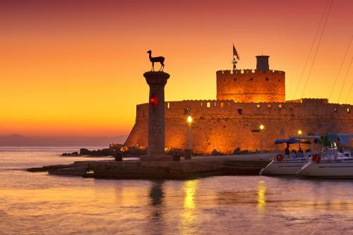Rhodes saint nicolas fort in Rhodes island, part of city tour