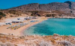 Agathi beach or else the Golden beach , beautiful golden sand beach.