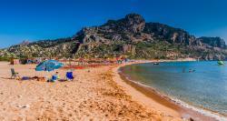 Tsampika beach , the best beach on Rhodes island, long, sandy, full of things to do.